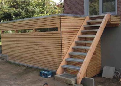 Carportanbau mit Treppe